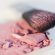Blush and an applicator - stock photo