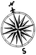 Compass rose Stock Illustration