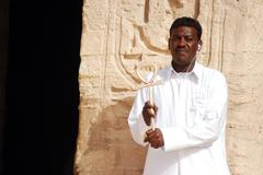 egypt travel photos - the great temple of abu simbel - stock photo