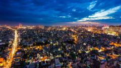 1080 - CITY SKYLINE - ZOOM EFFECT TIMELAPSE - SAIGON Stock Footage