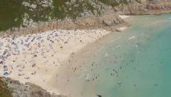 Porthcurno beach timelapse, Cornwall England. Stock Footage