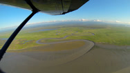 Stock Video Footage of Aerial view of melt water swampland remote Alaskan Wilderness, Alaska, USA