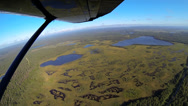 Stock Video Footage of Aerial view of tundra swampland Alaskan Wilderness light aircraft Alaska, USA