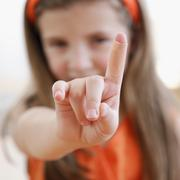 Child showing cut on finger Stock Photos