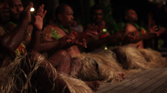 Fijian Men Performing Cultural Dance  - stock footage