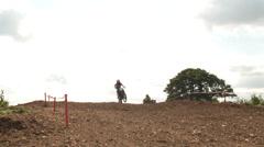 Following a motocross rider Stock Footage