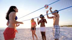 Multi Ethnic Teenage Friends Enjoying Healthy Outdoor Lifestyle Stock Footage