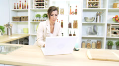 Young Caucasian Business Advisor Working Home - stock footage