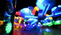 Funfair oktoberfest carousel lights background 11058 Stock Footage