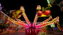 Funfair oktoberfest carousel wide quick 11060 Stock Footage
