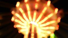 Funfair oktoberfest classic carousel lights background 11062 Stock Footage