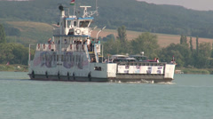 Balaton lake passage-boat.mp4 Stock Footage