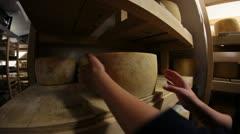 Seasoning cheese Stock Footage