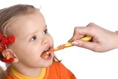 Stock Photo of child clean brush one's teeth.