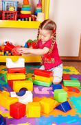 Stock Photo of child play block and construction set.