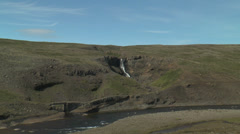 Historic bridge at old ring  road in iceland Stock Footage