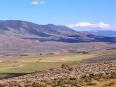 Lower slopes of the american rocky mountains near denver colorado on a sunny Stock Photos