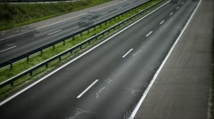 View of the highway on which cars are being driven Stock Footage