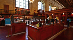 New York Public Library 2 Stock Footage