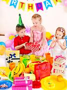 child birthday party . - stock photo