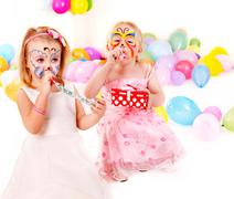 Stock Photo of child birthday party .