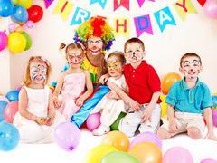 child birthday party . - stock photo