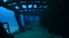 Shipwreck, Mexican Caribbean. Stock Footage