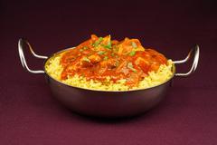 chicken jalfrezi balti dish - stock photo