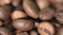 Roasted coffee beans. Soft focus. Stock Footage