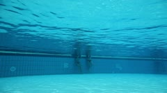 Stock Video Footage of Under water shot of activities in poll