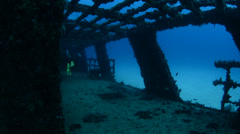 Shipwreck, Mexican Caribbean. - stock footage