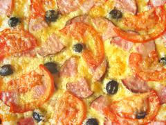Tasty appetizing pizza Stock Photos