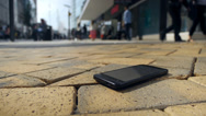 Stock Video Footage of Lost smartphone.