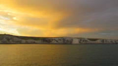 Great Britain, Dover, White Cliffs - stock footage