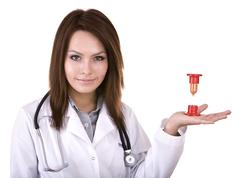Doctor warn that time is not present. Stock Photos