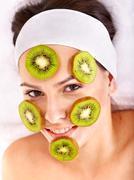 natural homemade fruit  facial masks . - stock photo