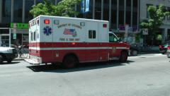 Ambulance downtown response, DC Stock Footage