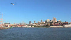 San Francisco Bay and Skyline Stock Footage