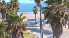 Skate Park on Venice Beach Stock Footage