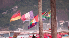 On the beach. Rio de Janeiro / Brazil Stock Footage