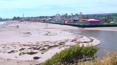 Santa Cruz Beach Boardwalk Stock Footage