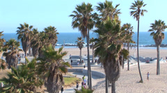 Venice Beach Skate Park Stock Footage