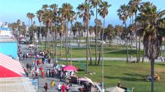 Ocean Front Walk in Venice Stock Footage