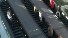 Time lapse escalators, 60P, commuters in a hurry. Stock Footage