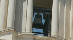 Rome church bell ringing (slomo) Stock Footage