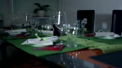 Specially decorated table for an extra occasion Stock Footage