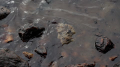 OIL SPILL DISASTER BLACK SLUDGE SLICK WATER Stock Footage