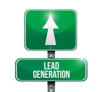 Lead generation road sign illustration design Stock Illustration
