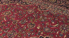 Typical Muslim carpet for praying in mosque. Stock Footage