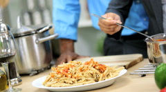Hands African American Business Couple Healthy Living Meal Stock Footage